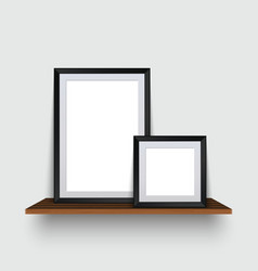 modern two empty frames standing on a vector image