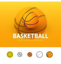 Basketball icon in different style vector image vector image