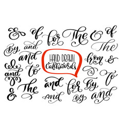 Big collection of hand lettered ampersands and vector