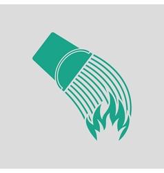 Fire bucket icon vector image