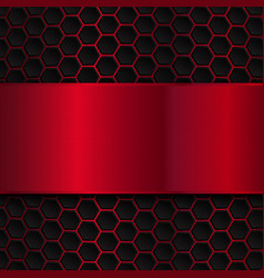 Geometric pattern of hexagons Abstract background vector image