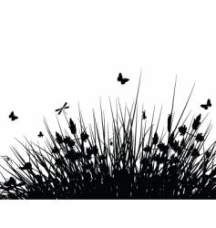 meadow silhouette vector image vector image
