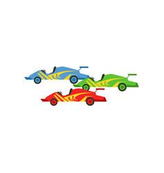 motorsports race cars singapore formula one race vector image