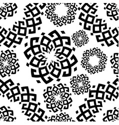 pattern in ethnic style siberian ornament vector image