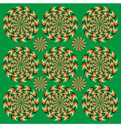 Perpetual rotation vector image