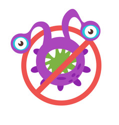 stop bacteria sign vector image vector image