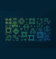 block chain colored banner blockchain vector image