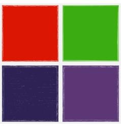 Color Grunge Frame Set vector image