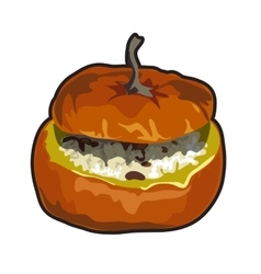 Cooked dish of pumpkin icon food for design vector image vector image