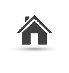home house icon isolated on white background vector image