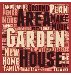 How to Make the Most of Your Garden text vector image vector image