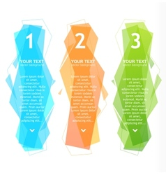 Speech templates for text 1 2 3 vector image vector image