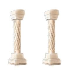 stylized greek doodle pillar column doric ionic vector image
