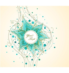 Abstract background with hand drawn flower vector image vector image