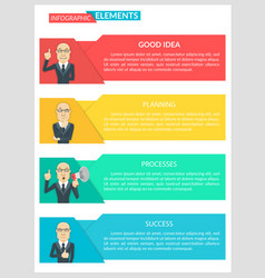 flat design infographic business template vector image vector image