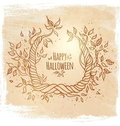 Hallowen card vector image vector image