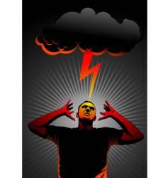 thunder in head vector image