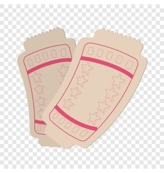 Tickets cartoon icon vector image vector image
