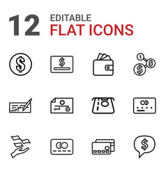 12 pay icons vector