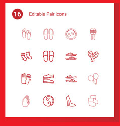 16 pair icons vector