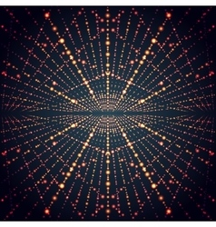 Abstract perspective infinity grid with glowing vector