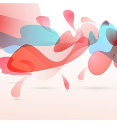 Abstract red liquid elements design background vector image