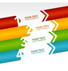 Arrow speech templates for text 1 2 3 4 vector