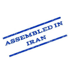 Assembled in iran watermark stamp vector