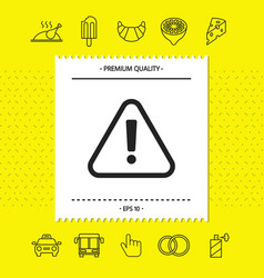 Attention icon symbol graphic elements for your vector
