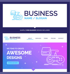Beautiful business concept brand name console vector