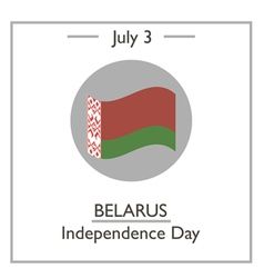 Belarus Independence Day vector image