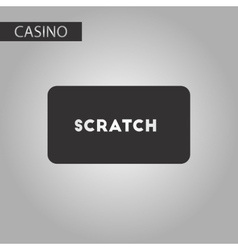 black and white style scratch card vector image