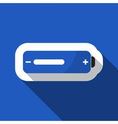 Blue information icon - battery medium vector