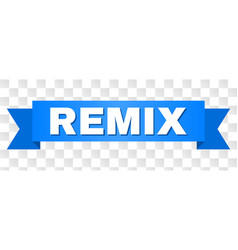 Blue tape with remix text vector