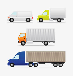 Box and container car vector