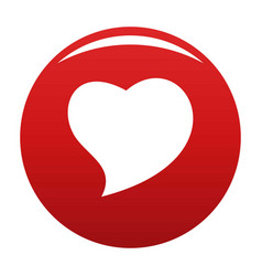 Brave heart icon red vector