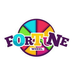 Bright fortune wheel made of colorful segments vector