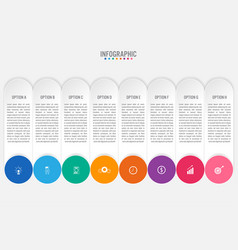 business infographic labels template with 8 vector image