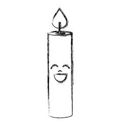 Candle birthday kawaii character vector