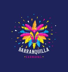 Carnaval de barranquilla colombian carnival party vector