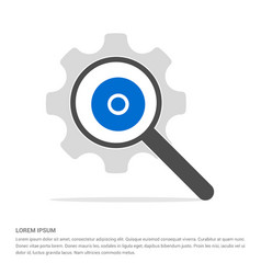 Cd disc icon search glass with gear symbol icon vector