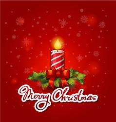 Christmas Greeting Card Merry Christmas vector image