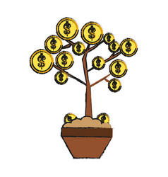 Coin tree vector