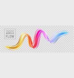 Colorful flow poster transparent brush stroke wave vector