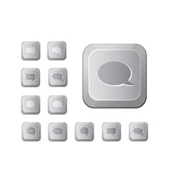 computer key set vector image