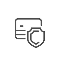 Credit card security line icon vector