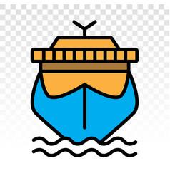 Cruise ship cargo ship yacht liner flat vector