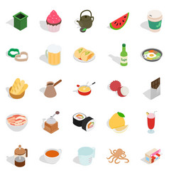 Culinary esthete icons set isometric style vector