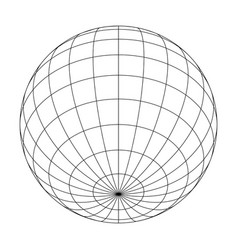 Earth planet globe grid meridians and parallels vector
