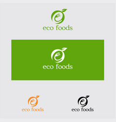 eco foods logo vector image